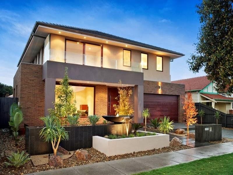 Hogares frescos fachadas de casas especial de hogares for Casas modernas de dos plantas pequenas