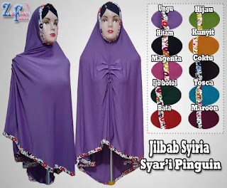 Jilbab Syar'i Syiria Pinguin Super Jumbo Murah
