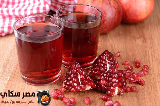طريقة تحضير عصير الرمان pomegranate juice
