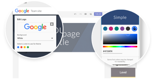 G Suite Update Alerts: Customize your site with logos, matching colors, and more in the new Google Sites