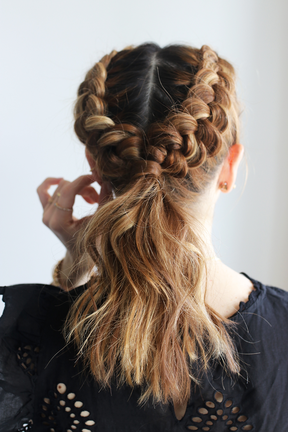 DIY File: Double Dutch Braids and Messy Ponytail