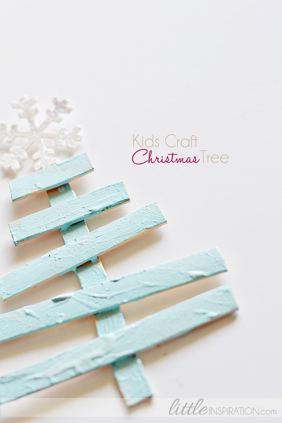 These multi sized paint sticks are great for a DIY Christmas tree craft project.