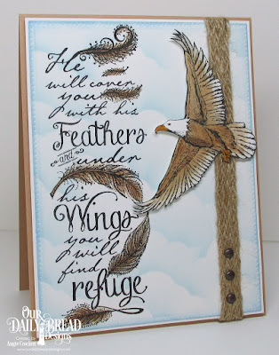 ODBD Find Refuge, ODBD On Eagle's Wings, ODBD Custom Pierced Rectangles Dies, ODBD Custom Clouds and Raindrops Dies, Card Designer Angie Crockett