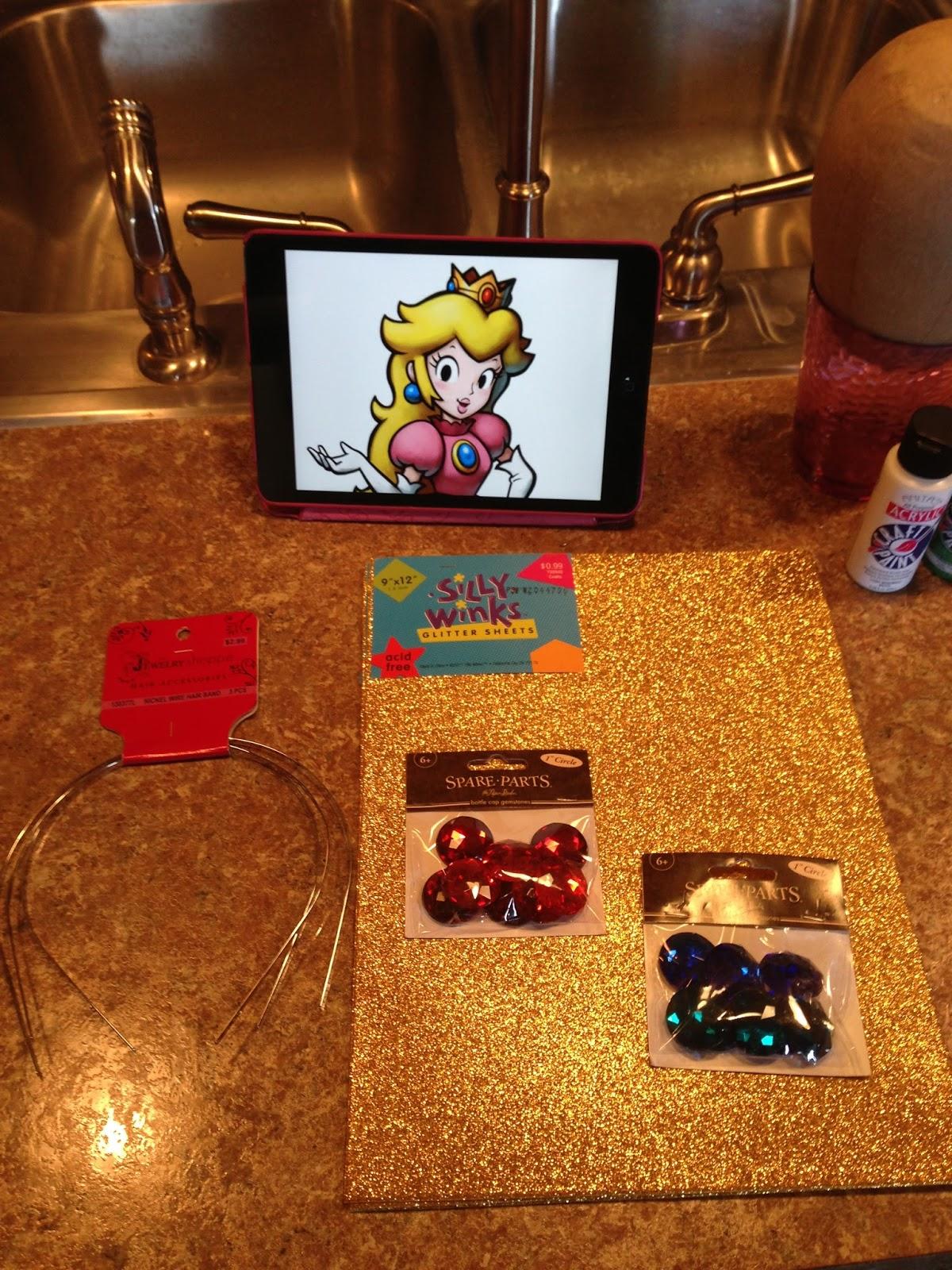 omglitzy tutorial princess peach crown