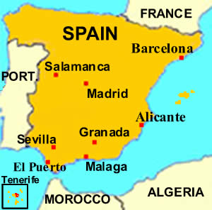 Barcelona on a map