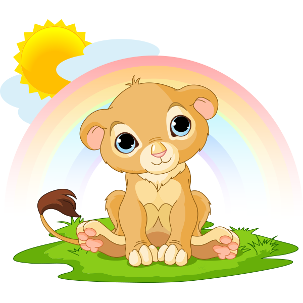 Rainbow Lion Icon