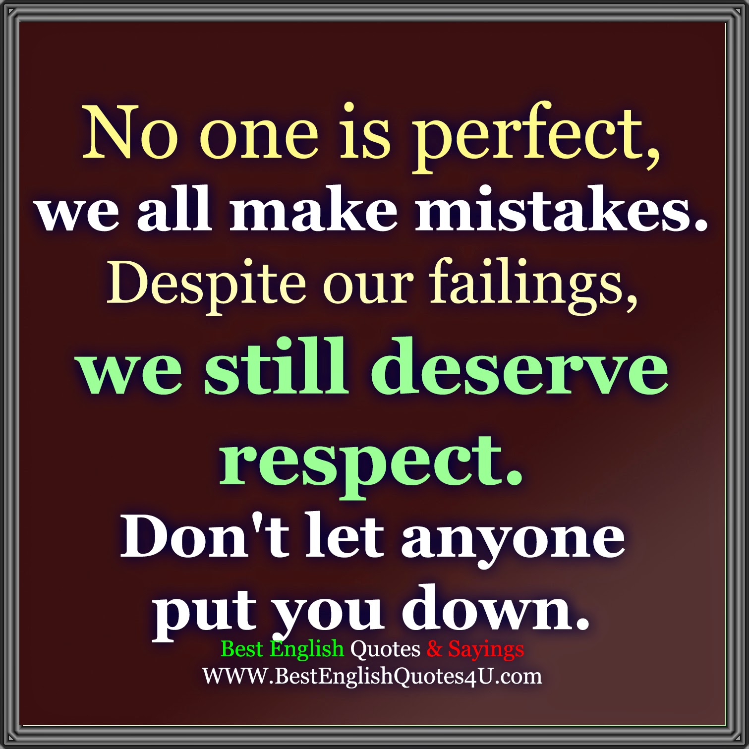No One Perfect Quotes And Sayings