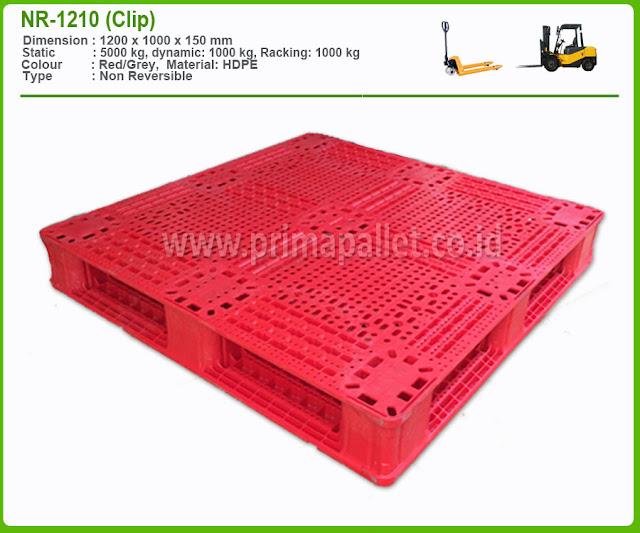 Jual Pallet Plastik NR 1210 (Clip) HDPE