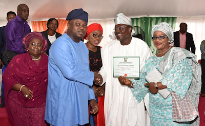 Gov Ambode and his wife bolanle