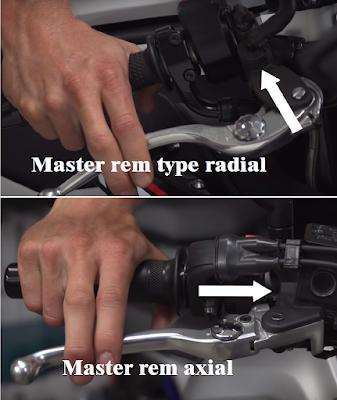 pada sistem rem hidrolik pada sepeda motor tentunya kita akan menemukan istilah menyerupai m Perbedaan Master Rem Radial dan Axial Motor