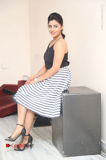 Telugu Actress Kruthika Jayakumar Stills in Short Dress at Intlo Deyyam Nakem Bhayam Success Meet  0243.JPG