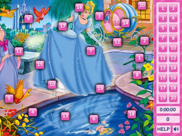 Cinderella Hidden Numbers 1