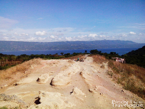 Dusty and rocky trail of Taal Volcano Island
