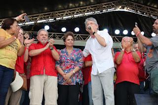 Ricardo participa da visita de Lula e Dilma à transposição em Monteiro
