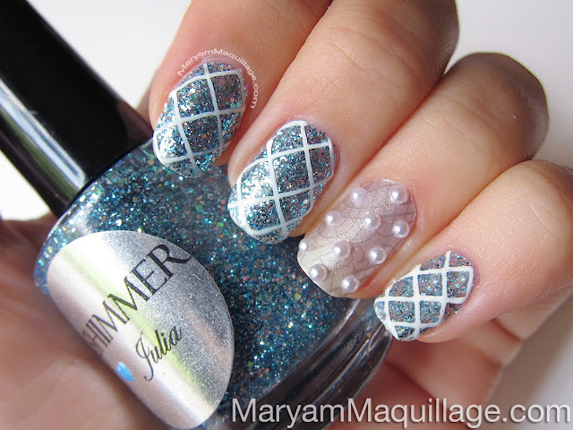 Maryam Maquillage Something Blue Bridal Nail Art