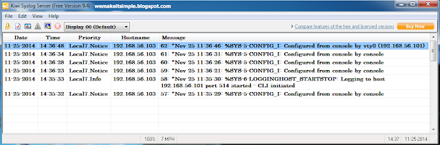 Cisco syslog messages Setting Up a SysLog Server for Cisco by Kiwi SysLog Server