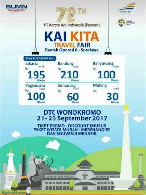 Tiket Kereta Api Promo Dalam Rangka KAI Travel Fair