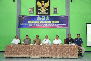 Sosialisasi Desa Sadar Hukum Di Ikuti Ratusan Peserta