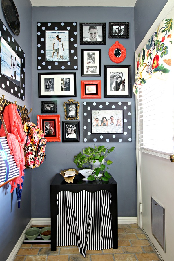 laundry room organization, how to hide the litter box, gallery wall, mudroom