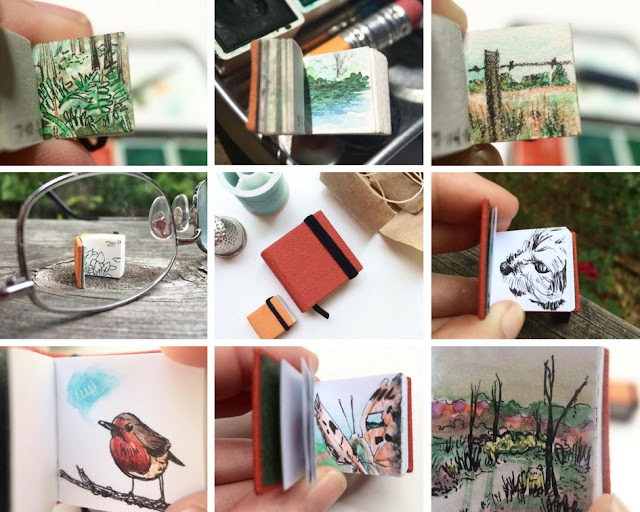 Sketchbooks, miniature sketchbooks, Leigh Anna Newell, Sketchbook Conversations, My Giant Strawberry