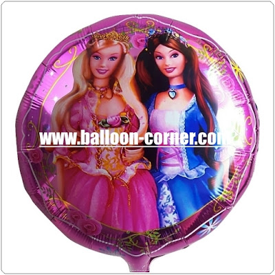 Balon Foil Bulat BARBIE