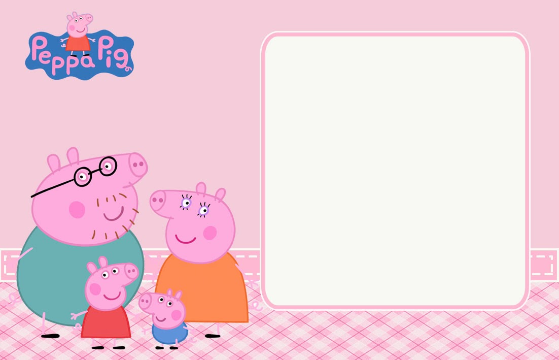 peppa pig and family free printable