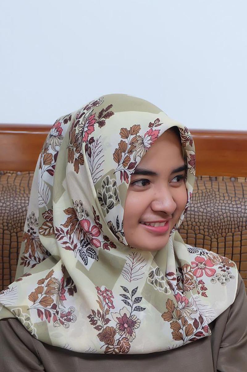 Cewek IGO jilbab Cantik cream remaa aceh