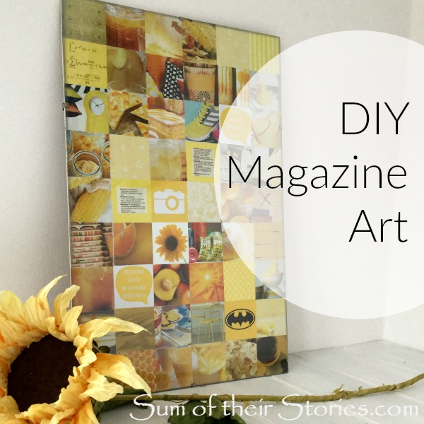 Easy to make art from old magazines and junk mail