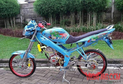 Foto Modifikasi Motor Vixion Thailook Simple