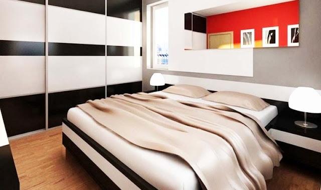kamar tidur minimalis ukuran 3x4