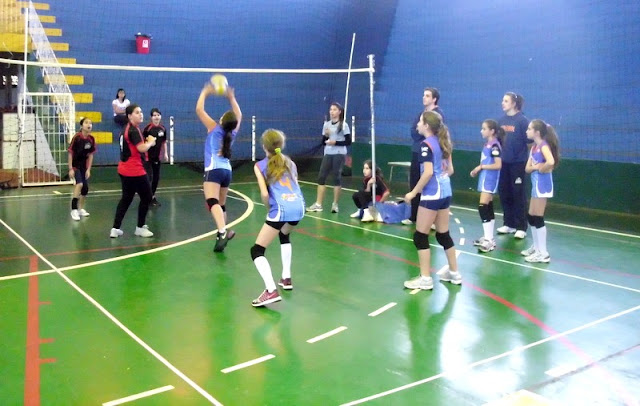 As fases do jogo de Mini-Voleibol
