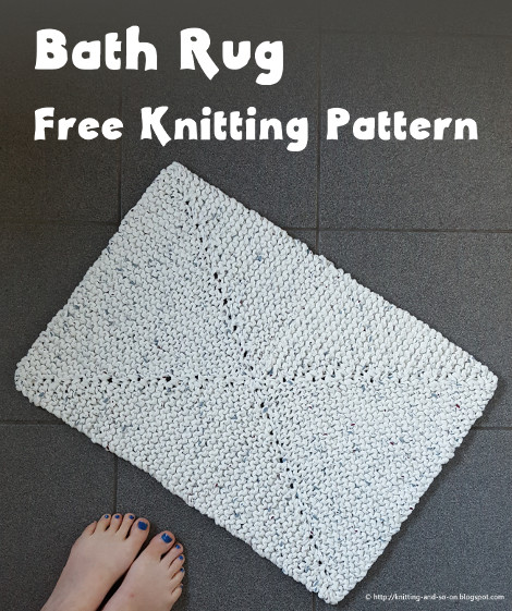 Knitting And So On Bath Rug