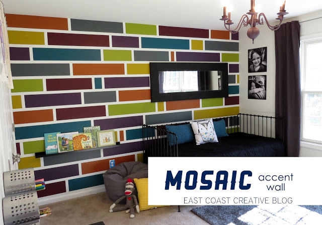 How to Paint a Mosaic Accent Wall {Bedroom Makeover} - East Coast ...