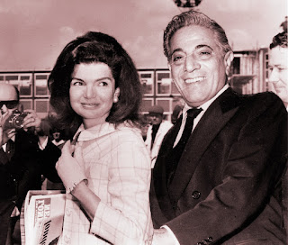 picture of Jacqueline Kennedy Onassis and Aristotle Onassis