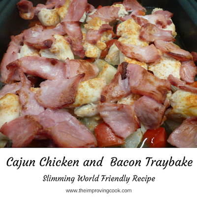Cajun Chicken and Bacon Traybake cooked