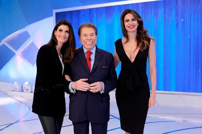 Isabella Fiorentino, Silvio Santos e Luciana Gimenez - Crédito: Lourival Ribeiro/SBT