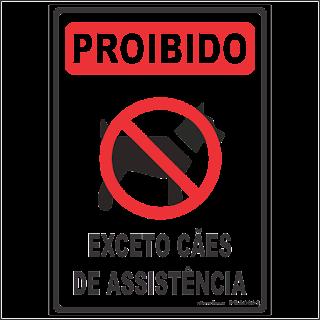 15e23714f5a77 Ponto Visual Catálogo Virtual  Placa de sinalização Proibido Cães