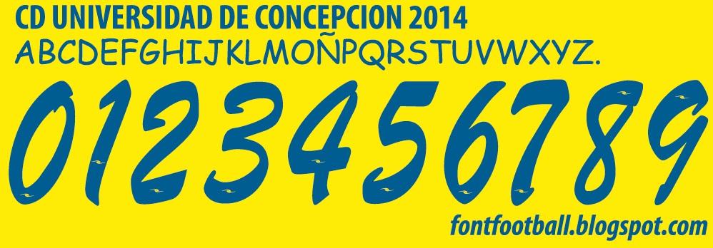FONT FOOTBALL: Font Vector CD Universidad De Concepcion 2014 kit