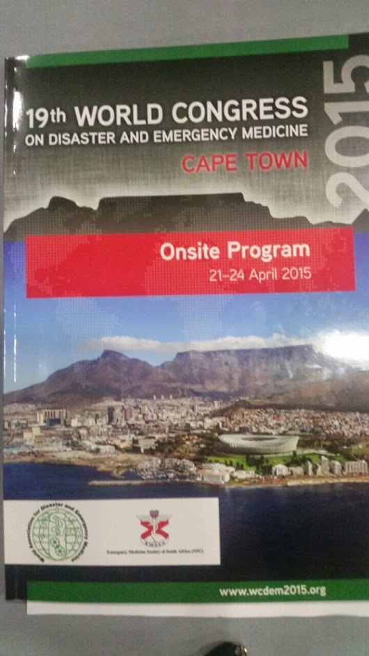 EMU AT THE WORLD CONGRESS ON DISASTER AND EMERGENCY MEDICINE 2015 - A pictorial