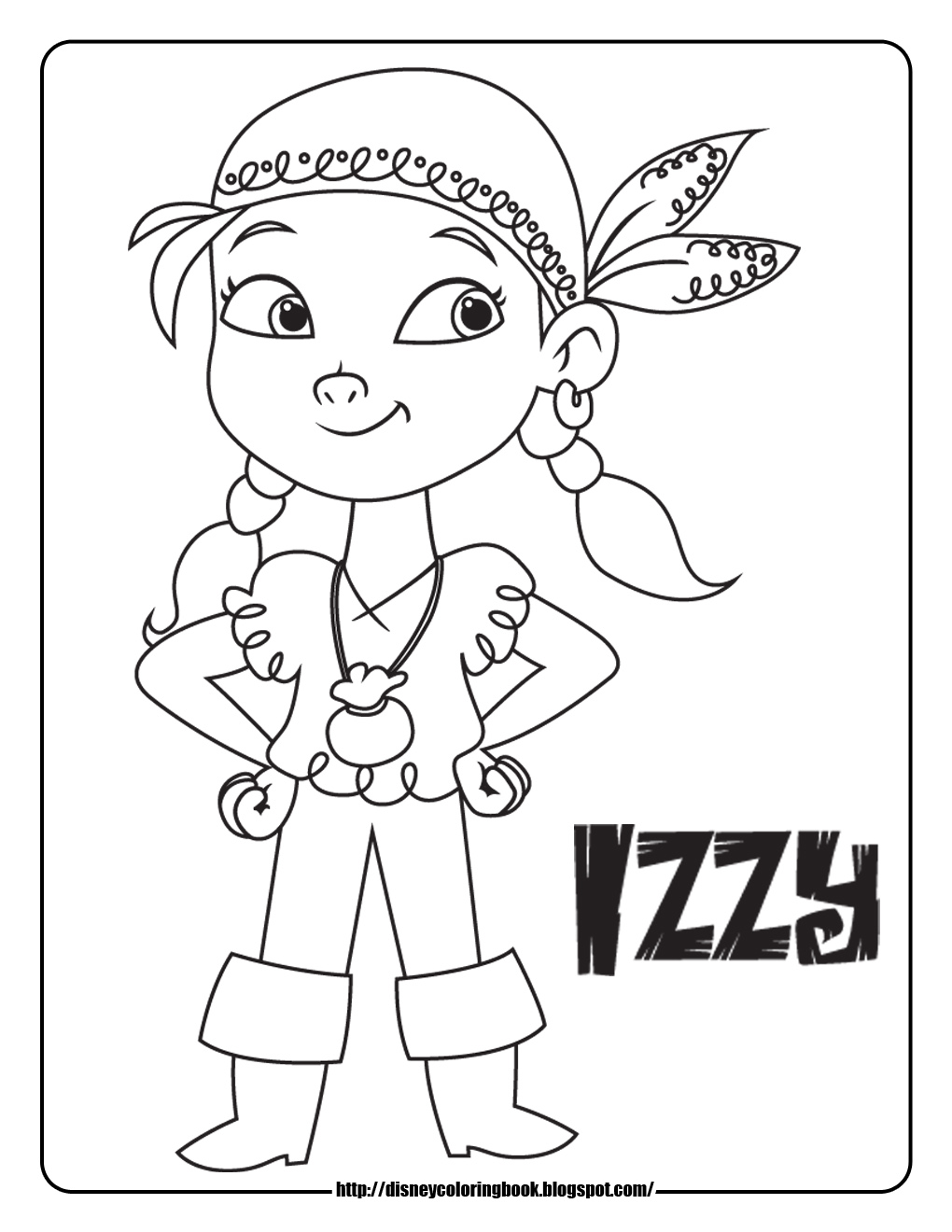 Jake and the Neverland Pirates 1 Free Disney Coloring