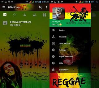 Download BBM Mod Reggae versi 3.2.5.12 Apk Terbaru For Android Update Clone