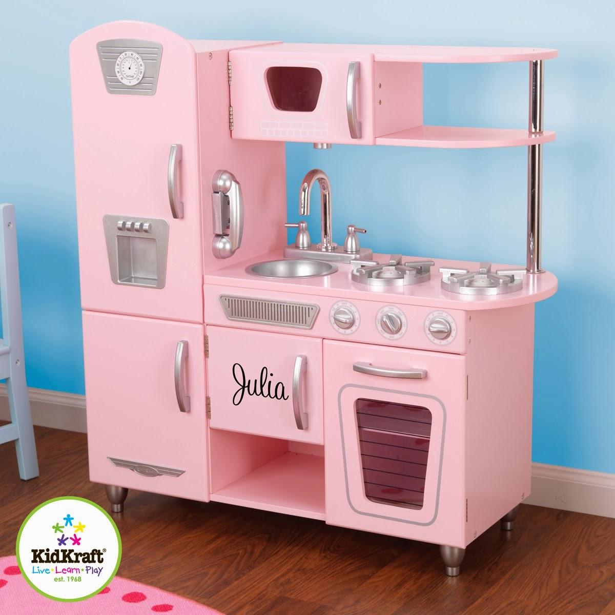 Kidkraft Navy Vintage Kitchen 53296 Lights Menards Wooden Children 39s Toys Toy Play