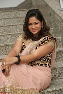 Shilpa Chakravarthy in Lovely Designer Pink Saree with Cat Print Pallu 048.JPG