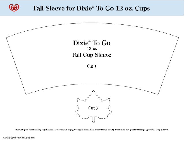 southern mom loves crushing it make an easy fall felt cup sleeve. Black Bedroom Furniture Sets. Home Design Ideas