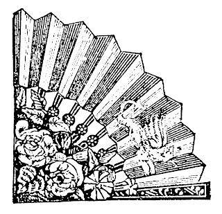 corner design fan image clipart digital download illustration drawing