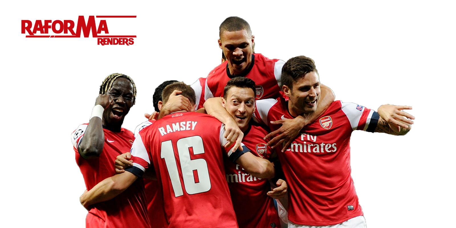 R.M.A renders: Arsenal Celebration Render