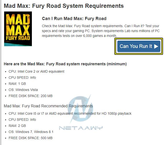 3d91cd808 3- ستلاحظ أن الموقع يعرض لك متطلبات تشغيل الألعاب على الكمبيوتر سواءً الحد  الأدنى Minimum أو المفضلة Recommended، إذا لم تكن لديك معرفة كافية بهذه  الأمور ...