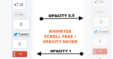Animated Scroll Fade + Opacity Hover Sidebar Widget - Mabzicle