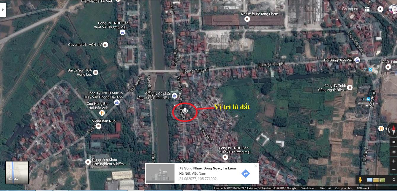 Vị trí thửa đất ngõ 451 Hoàng Tăng Bí Đông Ngạc trên bản đồ và các vùng lân cận