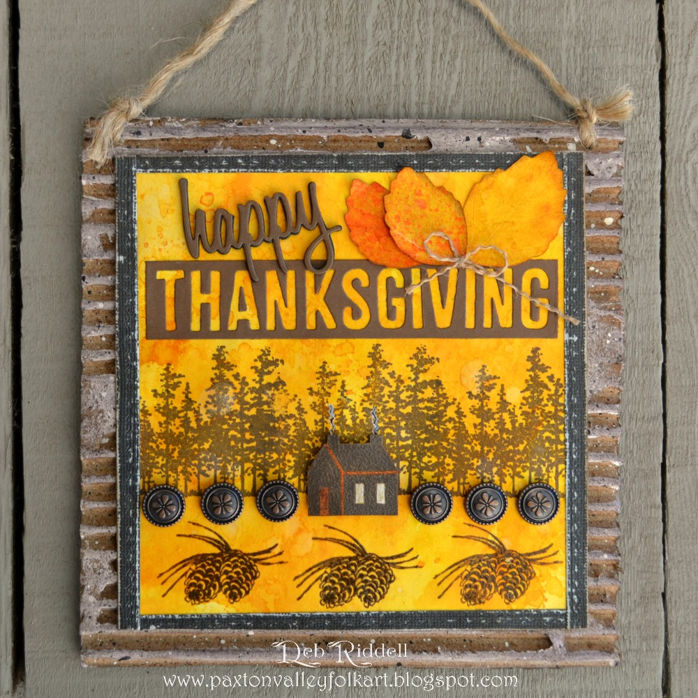 Paxton Valley Folk Art: Happy Thanksgiving Rustic Wall Hanging